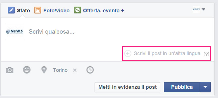#2 post multilingua facebook