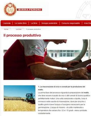 Il processo produttivo Peroni
