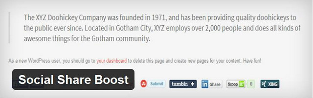 wordpress social share boost