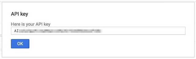 credenziali api key google maps