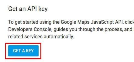 nuova chiave api key google maps