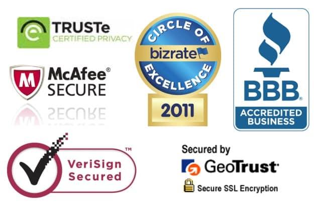 Alcuni tra i più famosi trust badges