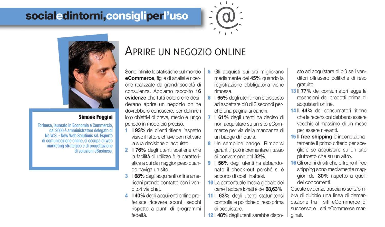 APRIRE UN NEGOZIO ONLINE - Torino Magazine, N° 127 - Marzo 2017