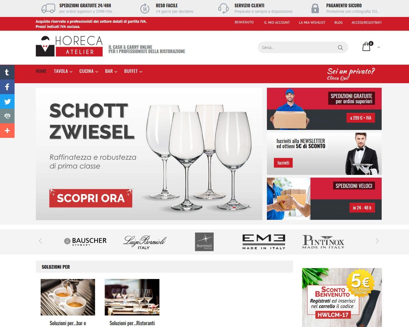 Horeca Atelier eCommerce